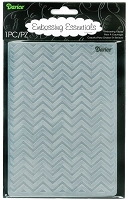 Darice Embossing Folder - Size: 5x7 - Chevron Background