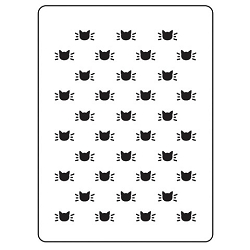 Darice Embossing Folder - (A2 Size) - Cat