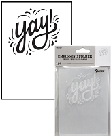 Darice Embossing Folder - (A2 Size) - Yay!