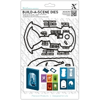 DoCrafts - Xcut Die - Build-A-Scene Shadow Box Street Scene