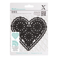 DoCrafts - Xcut Die - Vintage Notes - Filigree Heart