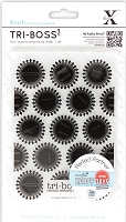 DoCrafts - Xcut A6 Embossing Folder - Tri-Boss3 - Bottle Tops