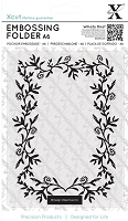 DoCrafts - Xcut A6 Embossing Folder - Foliage Frame