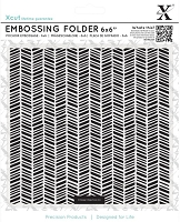 DoCrafts - Xcut 6x6 Embossing Folder - Herringbone Pattern