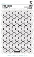 DoCrafts - Xcut A5 Embossing Folder - Honeycomb Pattern