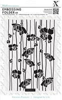 DoCrafts - Xcut A5 Embossing Folder - Blossom Stripe