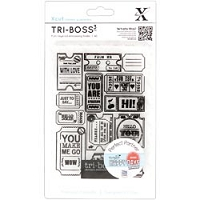 DoCrafts - Xcut A6 Embossing Folder - Ticket Stubs