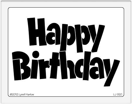 Gratifying image with happy birthday stencil printable