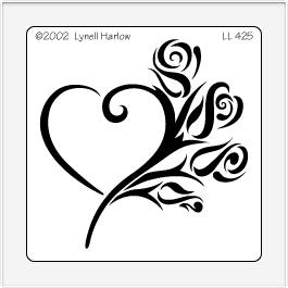 Dreamweaver large metal stencil rose heart