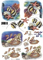 Dutch 3-D Decoupage Papers - Nouvelle Card Paper - 8 1/4