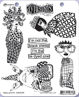 Dylusions - Cling Rubber Stamps - Black Sheep