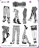 Dylusions - Cling Rubber Stamps - Legs Eleven