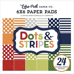 Echo Park - Dots & Stripes Collection - Little Boy Dots & Stripes 6x6 Paper Pad