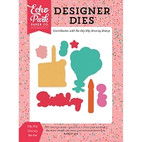 Echo Park - Designer Dies - Party Time Hip Hip Hooray Die Set