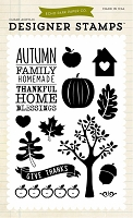 Echo Park - Designer Clear Stamps - Thankful Home