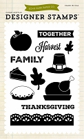 Echo Park - Designer Clear Stamps - Thanksgiving