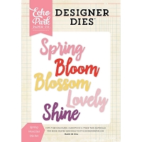 Echo Park - Designer Dies - Spring Words