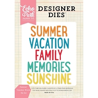 Echo Park - Designer Dies - Summer Vacation Words