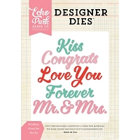 Echo Park - Designer Dies - Wedding Words Set