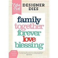 Echo Park - Designer Dies - Family Word Set 2