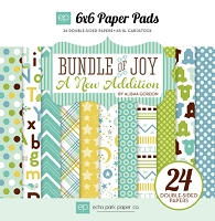 Echo Park - Bundle Of Joy A New Addition Collection - Baby Boy 6x6 Paper Pad
