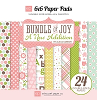 Echo Park - Bundle Of Joy A New Addition Collection - Baby Girl 6x6 Paper Pad