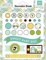 Echo Park - Bundle Of Joy A New Addition Collection - Baby Boy Brads