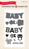 Echo Park - Bundle Of Joy A New Addition Collection - Little One Die & Clear Stamp Set