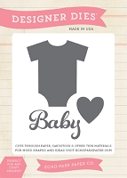 Echo Park - Bundle Of Joy A New Addition Collection - Baby Onsie Die Set