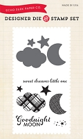 Echo Park - Bundle Of Joy A New Addition Collection - Goodnight Moon Die & Clear Stamp Set