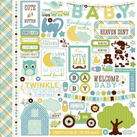 Echo Park - Bundle Of Joy A New Addition Collection - Baby Boy Element Sticker