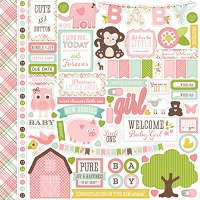Echo Park - Bundle Of Joy A New Addition Collection - Baby Girl Element Sticker