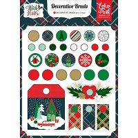 Echo Park - Deck The Halls Collection - Decorative Brads