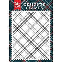 Echo Park - Deck The Halls Collection - Christmas Plaid A2 Clear Stamp
