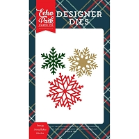 Echo Park - Designer Dies - Deck The Halls Frosty Snowflakes Die set