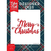 Echo Park - Designer Dies - Deck The Halls Merry Christmas Die set