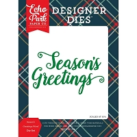 Echo Park - Designer Dies - Deck The Halls Season's Greetings Die set