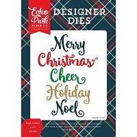 Echo Park - Designer Dies - Deck The Halls Bright Holiday Words Die set