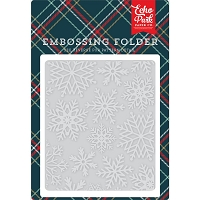 Echo Park - Embossing Folder - Deck The Halls - Snowflakes #3
