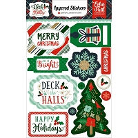 Echo Park - Deck The Halls Collection - Layered Stickers