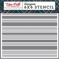 Echo Park - 6x6 Stencil - Deck The Halls Festive Stripe