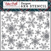 Echo Park - 6x6 Stencil - Deck The Halls Frosted Snowflake