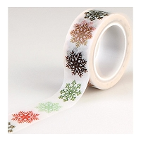 Echo Park - Deck The Halls Collection - Decorative Tape - Multi Snowflakes
