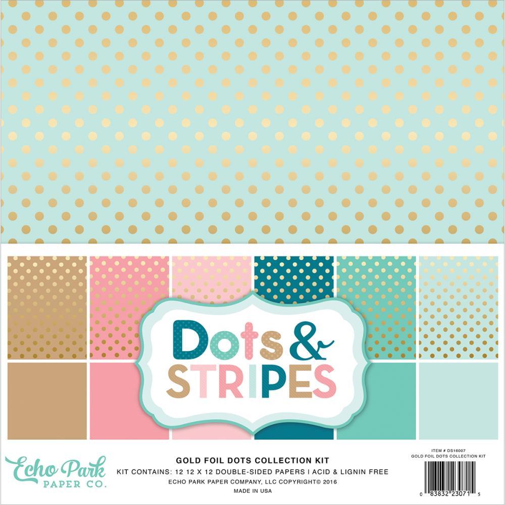 Scrapbook paper echo park - Dots Stripes New Colors