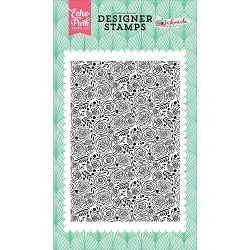 Echo Park - Fashionista Collection - Dainty Rose Background Clear Stamp