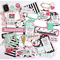 Echo Park - Fashionista Collection - Die Cut Tags & Frames