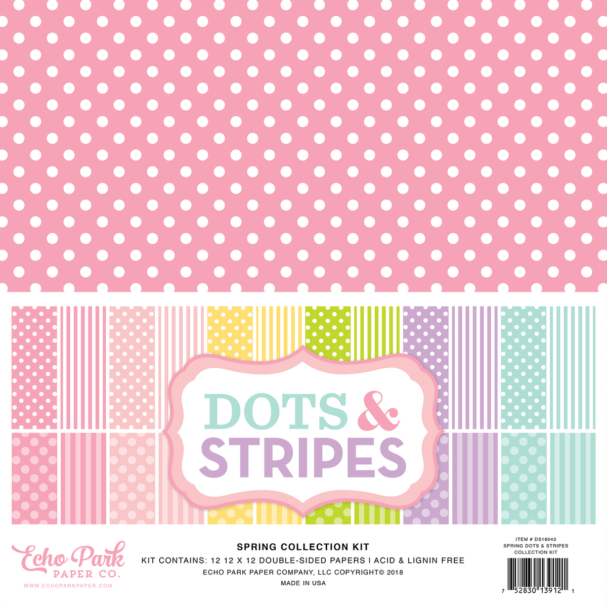 Echo Park   Dots U0026 Stripes Spring U0026 Summer Collection