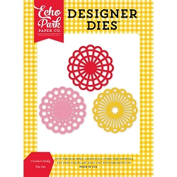 Echo Park - Designer Dies - Happiness is Homemade - Crochet Doilies