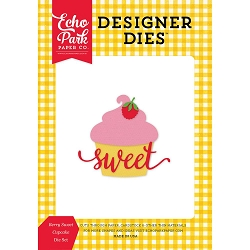 Echo Park - Designer Dies - Happiness is Homemade - Berry Sweet Cupcake