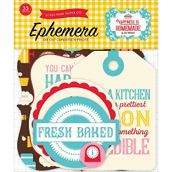 Echo Park - Happiness is Homemade Collection - Die Cut Ephemera